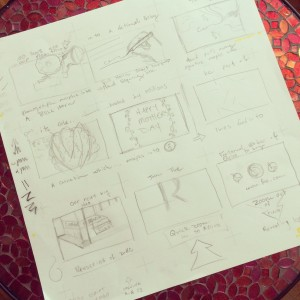 motion graphics rough storyboard