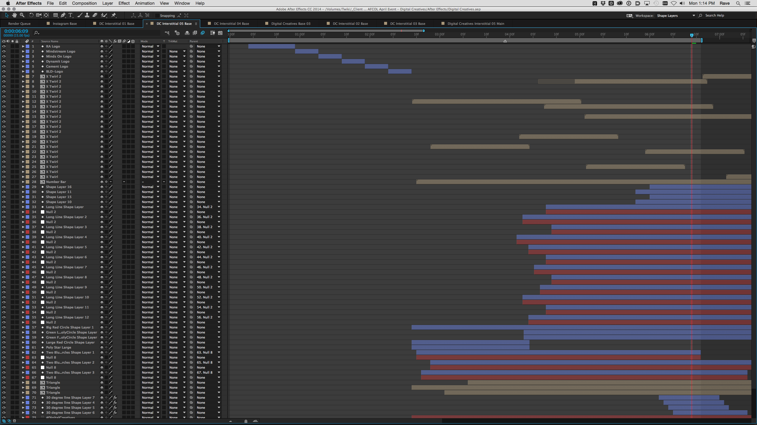 Event Brand Identity - After Effects Layers Screenshot