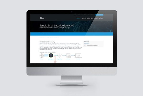 Sendio website design